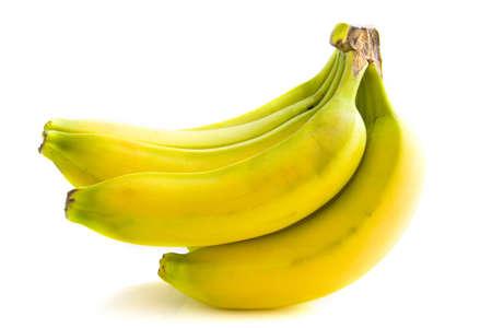 Bende van bananen van geïsoleerd via Wit
