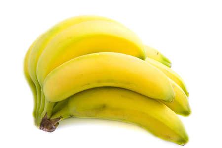 Een stelletje bananen van geïsoleerd via Wit