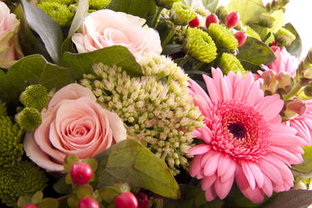 Different flowers bouquet  for special happening Stock Photo