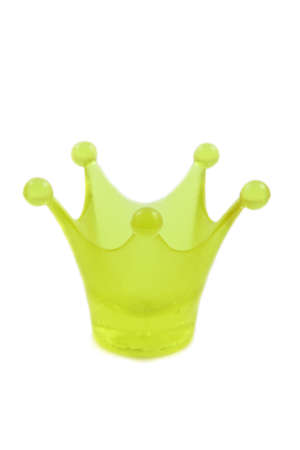 cupper: Green crown of glass isolated over white
