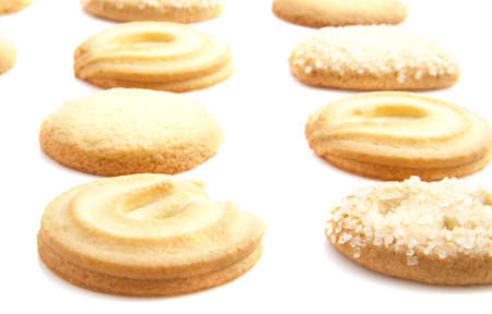 scrumptious: Different cookies isolated on a white background