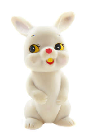 Plastic toy rabbit isolated on a white background Stock Photo - 8431941
