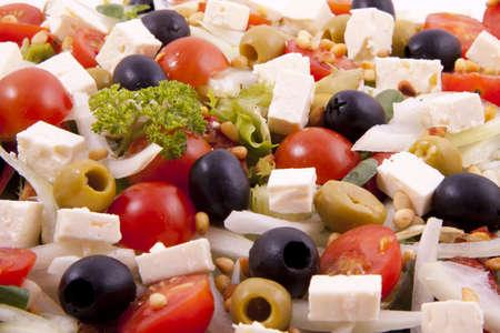 Fresh greek salad for background use Stock Photo - 8695658