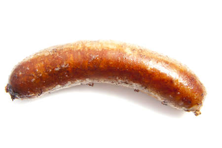 german food: German sausage isolated on a white background