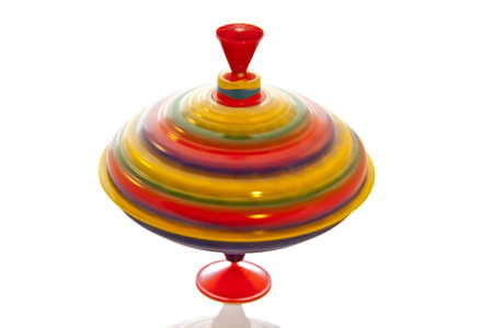 toys pattern: Colorful spinning twirl isolated on a white background