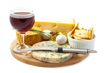 Wine Glass Cheese Board Cheese Board With a Glass of