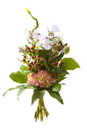 Special flower bouquet isolated on a white background Stock Photo