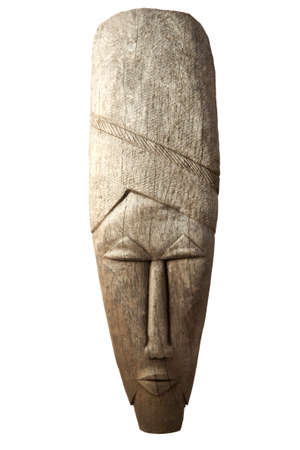 african tribe: Angolese mask isolated on a white background