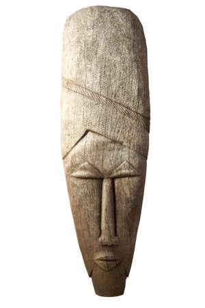 tribal mask: Angolese mask isolated on a white background