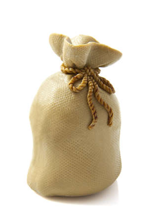 Full brown bag isolated on a white background photo