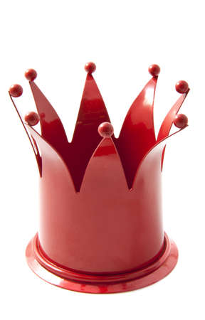 cupper: Red crown isolated on a white background