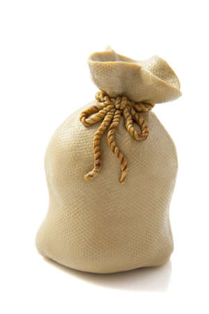 Filled brown bag isolated on a white background photo