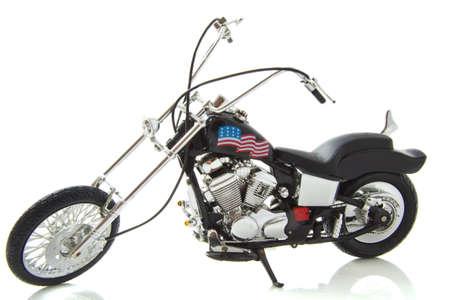 cycles: Cycle de moteur avec le drapeau am�ricain isol� sur blanc