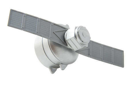 satelite: Silver satelite isolated on a white background