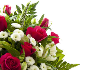 Beautiful bouquet with pink roses for background use Archivio Fotografico