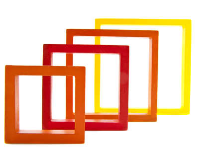 sceince: Modern colored squares isolated on a white background