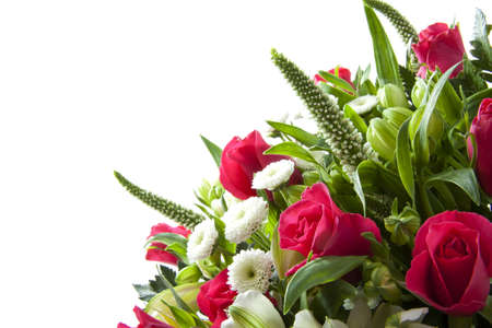 Bouquet with different kind of flowers for background use photo