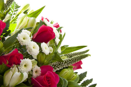 mariage: colorful bouquet with pink roses for background use Stock Photo