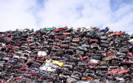 Lots of old cars on a pile of scrap Stock Photo - 13118170