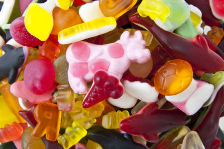 different kind of colorful candy for background use photo