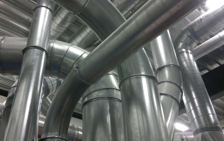 Lots of airtubes in a technical space photo