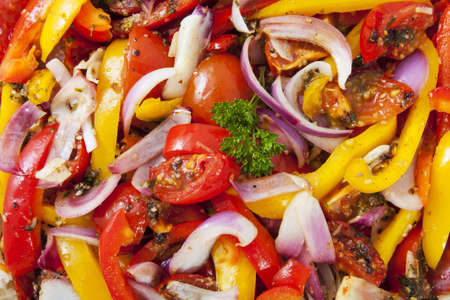 Delicious fresh colorful food for background use Stock Photo - 21949626