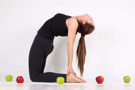 sports activities: girl engaged in sports activities for the maintenance of health