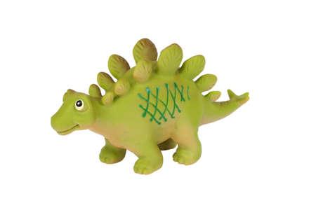 stegosaurus: Stegosaurus del dinosaurio de juguete aislados en el fondo