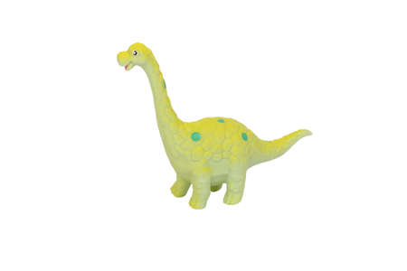 diplodocus dinosaur toy on isolated background  photo