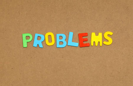 savings problems: inscription lined letters on the board
