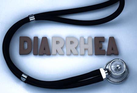 diarrea: Diarrhea word on the blackboard