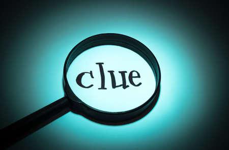 clue: Concept search loupe magnifier clue button