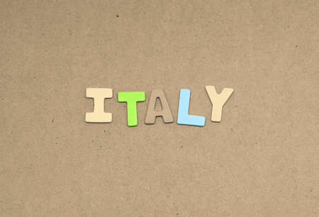 italy background: Italy text on brown background
