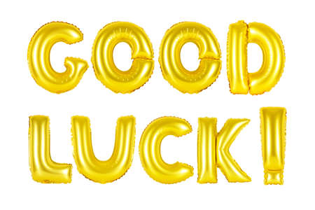 Gold alphabet balloons, good luck, Gold number and letter balloon