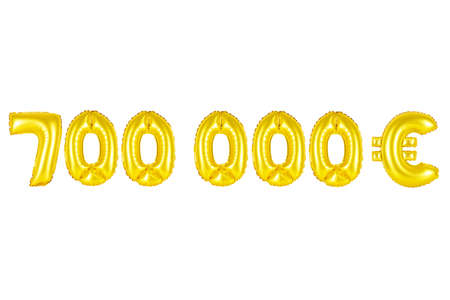 Gold alphabet balloons, seven hundred thousand euros, Gold number and letter balloon