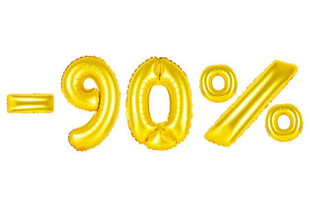 christmas gift: Gold alphabet balloons, 90 percent, ninety percent off, Gold number and letter balloon
