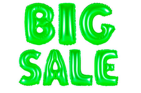 big sale, green number and letter balloon Stock Photo