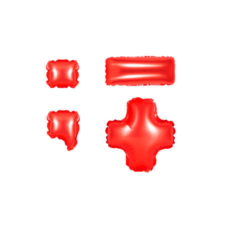 red alphabet balloons, punctuation marks, part 2, red number and letter balloon