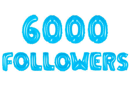 blue alphabet balloons, 6000 (six thousand) followers, blue number and letter balloon