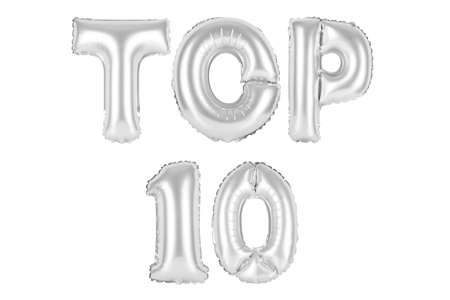 chrome (grey) alphabet balloons, top 10, chrome (grey) number and letter balloon