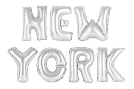 chrome (grey) alphabet balloons, new york, chrome (grey) number and letter balloon