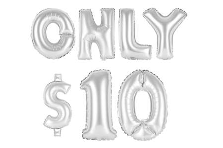chrome (grey) alphabet balloons, only ten dollars, chrome (grey) number and letter balloon Stock Photo
