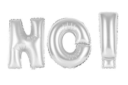 chrome (grey) alphabet balloons, acronym and abbreviation, no, chrome (grey) number and letter balloon