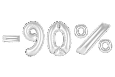 chrome (grey) alphabet balloons, 90 percent, ninety percent off, chrome (grey) number and letter balloon