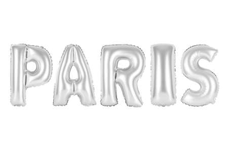 chrome (grey) alphabet balloons, paris, chrome (grey) number and letter balloon