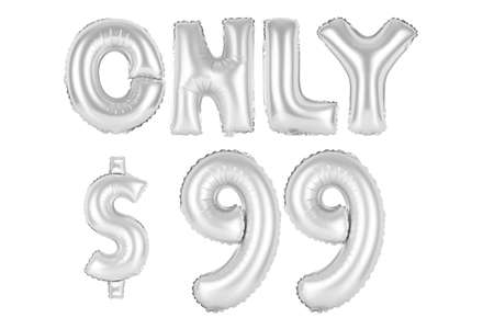 chrome (grey) alphabet balloons, only ninety-nine dollars, chrome (grey) number and letter balloon