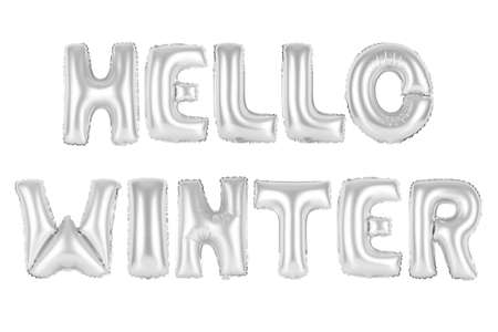 chrome (grey) alphabet balloons, hello winter, chrome (grey) number and letter balloon