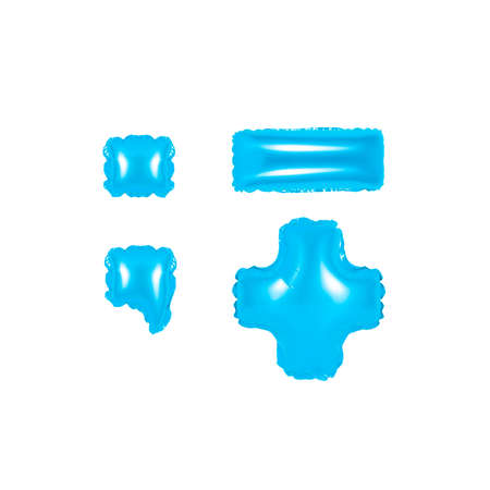 blue alphabet balloons, punctuation marks, part 2, blue number and letter balloon