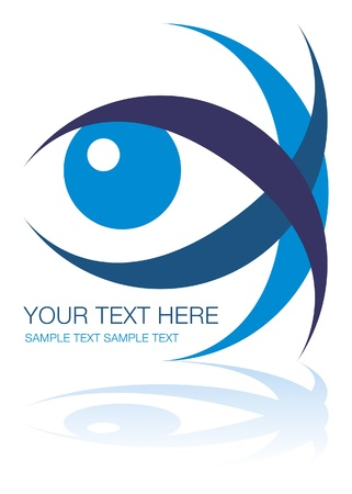 Striking eye design with copy space. Stock Vector - 9683477