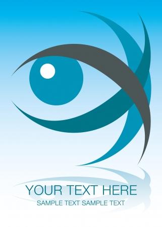 Striking eye design with copy space. Vektoros illusztráció